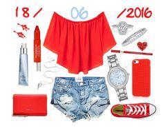 """18/06/2016"" by apcquintela ❤ liked on Polyvore featuring MANGO, One Teaspoon, Converse, Givenchy, Geneva, Trish McEvoy, Neutrogena, Oscar de la Renta and Bourjois"