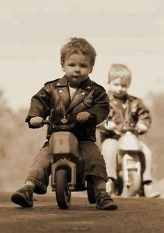little kids on motorcycles...too cute!