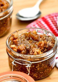 Dried Fig Recipes, Jam Recipes, Canning Recipes, Dessert Recipes, Vegan Recipes, Lebanese Cuisine, Lebanese Recipes, Lebanese Desserts, Ketchup
