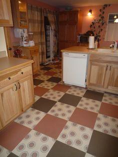 Armstrong vinyl tile, I custom designed the layout pattern.
