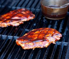 Grilled Chicken with Balsamic BBQ Sauce