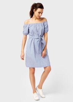 Купить Платье в вертикальную полоску (LR1QB5) в интернет-магазине одежды O'STIN