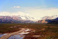 Alaska. Denali Hwy, side rd to Nine Mile Lake, july 1971