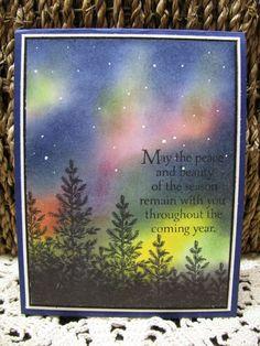 Giddy Stamper: Northern Lights Copy Cat ~ The Friday Mashup 187  Nothern lights card
