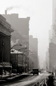 "Saatchi Online Artist Daniel Heikalo; Photography, ""Rue Notre-Dame-Montreal-Winter 1981"" #art"