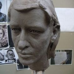 Clay subsequently cast in bronze Portrait Sculptures / Commission or Bespoke or Customised sculpture by artist Thomas J. Nicholls titled: 'Bespoke Portrait sculpture Commission (Custom Commemorative Bust Head)'