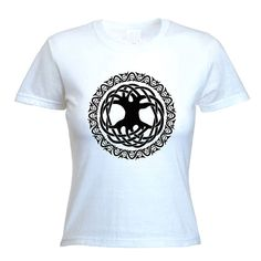 Shop for on Etsy, the place to express your creativity through the buying and selling of handmade and vintage goods. Tree Of Life Quotes, Celtic Tree Of Life, T Shirts For Women, Trending Outfits, Awesome, Mens Tops, Etsy, Fashion, Moda