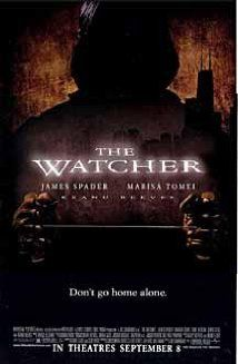 The Watcher (2000) --James Spader, Keanu Reeves and Marisa Tomei--good cast. Keanu is a good bad guy - Have it have nit watched it yet My sister gave me This  Charlie Wilson's War a couple black fidays going back and I haven't opebed them yet