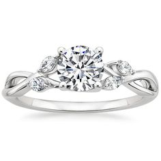 18K White Gold Willow Diamond Ring from Brilliant Earth