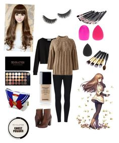 """""""Mystic messenger cosplay [MC]"""" by msunicornanna ❤ liked on Polyvore featuring Lands' End, Frye and shu uemura"""