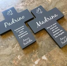 Items similar to Spanish El padrino, Padrino Madrina wall la cruz el regal cross set. Personalized gift, communion gift, Baptism gift, Easter gift on Etsy Baptism Party Decorations, First Communion Decorations, Boy Baptism Centerpieces, Shower Centerpieces, Balloon Decorations, Cadeau Communion, Communion Gifts, Baptism Gifts For Girls, Baby Boy Baptism