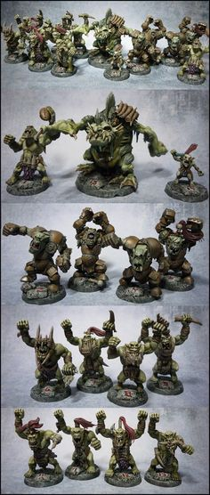 BLOOD BOWL team ORCS SAVAGES ORQUES SAUVAGES