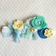 Flower+Baby+Headband++Infant+Headband++Lace+by+candybuttonusa
