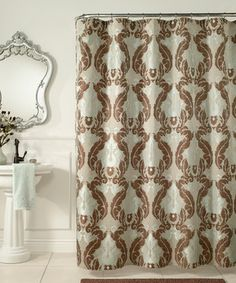 Blue U0026 Brown Baroque Shower Curtain By M