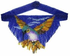 Hummingbird Weave Fringe Necklace : Beading Patterns and kits by Dragon! Beaded Earrings Patterns, Bead Loom Patterns, Beading Patterns, Beaded Choker Necklace, Fringe Necklace, Beaded Necklaces, Beading Needles, Loom Beading, Beading Tutorials
