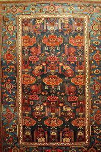 Antique-Malayer-handrug-ca-200x138cm-Tappeto-Carpet-Teppich-collektorpiece