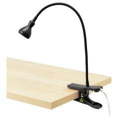 JANSJÖ Foco pinza - negro - IKEA