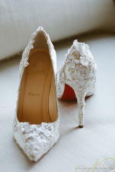Christian Louboutin l White Wedding Shoes