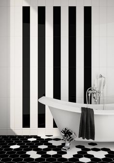 Black and white tile — it's so classic and timeless