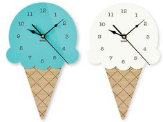 The Ice Cream Wall Clock - delicious nursery décor