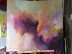 Abtracted II, Acryl on canvas, 80 x 90 cm.