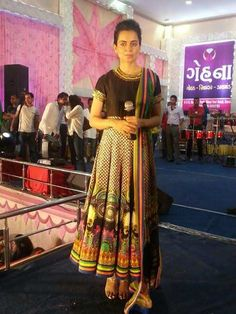 Kangana Ranaut in an 'INDIAN by Manish Arora' for a Navratri event in Surat