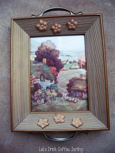 DIY Picture Frame Tray #breakfastinbed #tray #craft #Valentine #ValentinesDay #ValentinesIdea