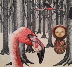 Sarah Pratt / Flamingoes in the forrest