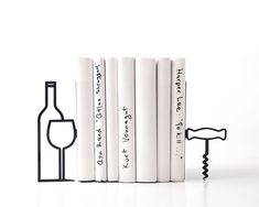 Wine bookends from Design Atelier Article Etsy shop