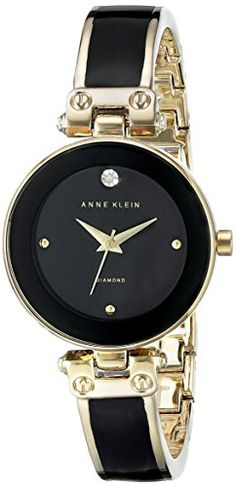 Anne Klein Women's AK/1980BKGB Diamond-Accented Dial Blac... https://www.amazon.ca/dp/B00ZHJDT7U/ref=cm_sw_r_pi_dp_U_x_04QGAbAJG332Q