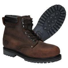 Steel toed boots are rarely comfortable, but this particular work boot is definitely easier on the feet than most of its competitors. Good Work Boots, Cool Boots, Steel Toe Work Boots, Timberland Boots, Skechers, Work Wear, Mens Fashion, Stylish, Moda Masculina