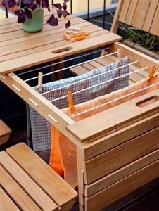 Cinas Dry Under Havemøbelsæt - Sæt med bord & 4 stole