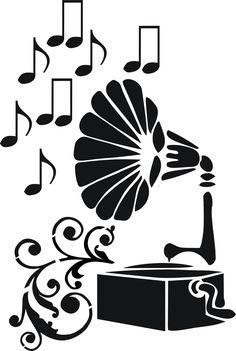 Eigenmarke Stencil Schablone  Gramophone