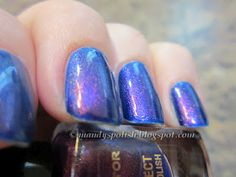 Max Factor Fantasy Fire layered over Blue