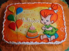 Pebbles!!! - Hand painted on fondant. All decoration from fondant. Painted with vegetable colours