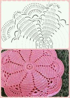 Flower crochet doilies, Crochet placemats, Cotton beige doilies, Thanksgiving gift idea - Her Crochet Crochet Potholder Patterns, Crochet Doily Rug, Crochet Placemats, Crochet Doily Diagram, Crochet Motifs, Crochet Home, Thread Crochet, Hand Crochet, Crochet Flowers