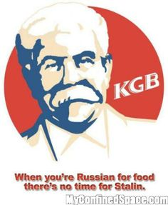 KGB: When youre Russian for food theres no time for Stalin