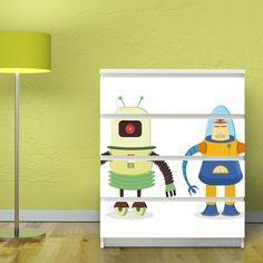 Motivsticker banjado für IKEA MALM Kommode 80x100 cm mit Motiv: Zwei Roboter: Amazon.de: Küche & Haushalt