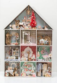 I always wanted make a house with all those small rooms full of little furniture and decorations. My own Christmas H. Small Rooms, Crafty, Holiday Decor, Christmas, Boxes, Bar, Home Decor, Small Bedrooms, Xmas
