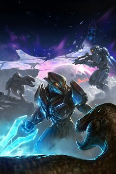 Check out the 'Halo: Hunters in the Dark' cover art by Kory Lynn Hubbell! See his Halo 4 concept art here: http://goo.gl/F89wcx
