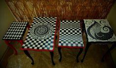 Modern Baroque tables by Luiza Poreda for Art PoPo