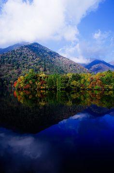 Morning early autumn in Lake Yunoko, Nikko, Tochigi, Japan