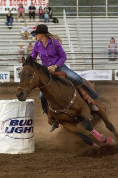 Barrel racing! I'm not the best at it but I practice and i WILL get better!