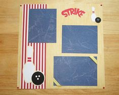 Bowling Scrapbook Layout - Bowling Scrapbook Page - 12 X 12 Scrapbook - Bowling Night - Bowling League - Birthday Bowling Party - Kids Party  AngelBDesigns4You