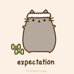 pusheen loves to workout