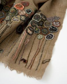 SOPHIE DIGARD 2016AW レディース NOMAD SMALL WOOL SCARF ウールスカーフ(BEIGE/VOLC )