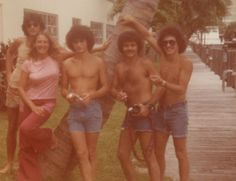 1970s with those jeans shorts.