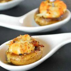 Champignons farcis aux crevettes - Lolibox - Recettes de cuisine