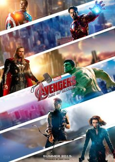 #Avengers #Fan #Art. (The Avengers: Age of Ultron Poster) By: Krallbaki. AWESOMENESS!! [THANK U 4 PINNING!!]