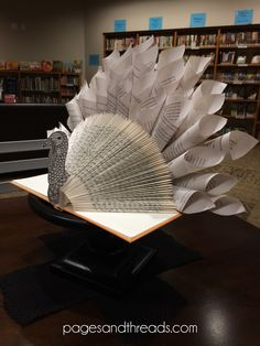 Recycled Book Thanksgiving Turkey Tutorial | Pages and Threads